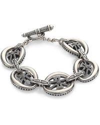 Konstantino - Penelope Sterling Silver Cross Link Bracelet - Lyst