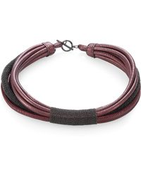 Brunello Cucinelli - Leather & Moni Choker - Lyst