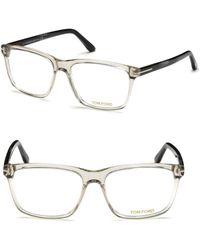 Tom Ford - 56mm Square Eyeglasses - Lyst