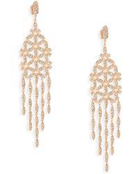 Adriana Orsini - Anise Rose Gold-plated Chandelier Earrings - Lyst