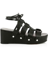 Rebecca Minkoff - Women's Iven Gladiator Platform Wedge Sandals - Black - Lyst