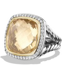 David Yurman - Albion Ring With Champagne Citrine, Diamonds And 18k Gold - Lyst