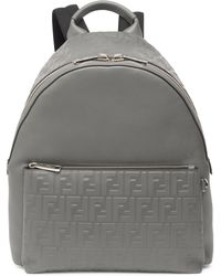 Fendi - Vitello Grace Zucca Embossed Leather Backpack - Lyst
