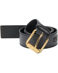 Moschino - Textured Leather Belt - Lyst