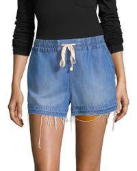 Splendid - Indigo Denim Shorts - Lyst