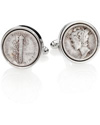 David Donahue - Sterling Silver Dime Cuff Links - Lyst