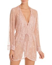 In Bloom - Blush Lace Wrapper - Lyst