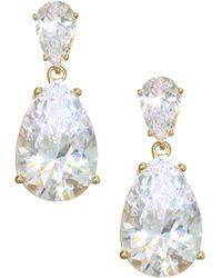 Adriana Orsini - 18k Goldplated Sterling Silver Double Pear Drop Earrings - Lyst