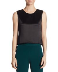 Brandon Maxwell - Silk Shell Cropped Top - Lyst