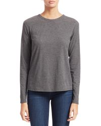 Theory - Pleat Back Long-sleeve Top - Lyst