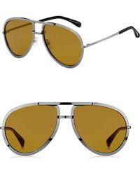 e74c224594b79 Givenchy - Men s 60mm Aviator Sunglasses - Dark Ruthenium - Lyst