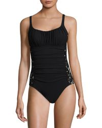 Gottex - Allure Ruched Scoopneck Swimsuit - Lyst