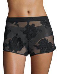 Fleur du Mal - Floral Lace Shorts - Lyst