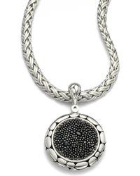 John Hardy - Kali Black Sapphire & Sterling Silver Lava Enhancer - Lyst