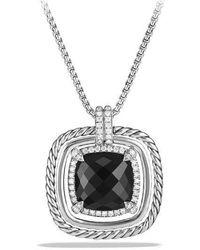David Yurman - Châtelaine Pave Bezel Necklace With Gemstone And Diamonds - Lyst