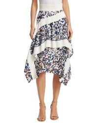 3.1 Phillip Lim - Printed Silk Ruffle Skirt - Lyst