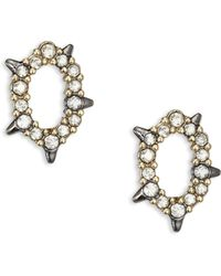 Alexis Bittar | Spiked Crystal Stud Earrings | Lyst