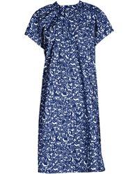 Marni - Women's Short Sleeve Micro Pocket Poplin Dress - Blue Micro Print - Size 46 (10) - Lyst