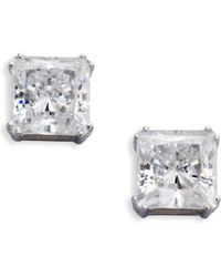 Adriana Orsini - Sterling Silver Square Stud Earrings - Lyst