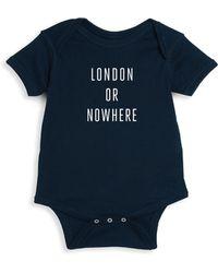 Knowlita - Baby's London Or Nowhere Cotton Bodysuit - Lyst
