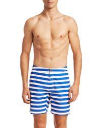 Saks Fifth Avenue - Modern Macro Pinstripe Swim Shorts - Lyst