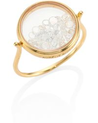 Aurelie Bidermann | Diamond & 18k Yellow Gold Chivor Ring | Lyst