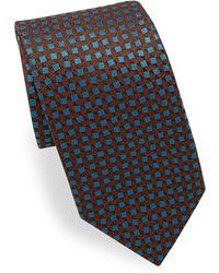 Charvet - Square Pattern Silk Tie - Lyst