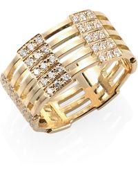 Melissa Kaye - Izzy Diamond & 18k Yellow Gold Ring - Lyst