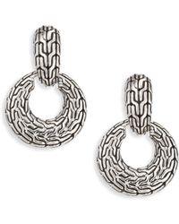 John Hardy - Classic Chain Silver Drop Earrings - Lyst