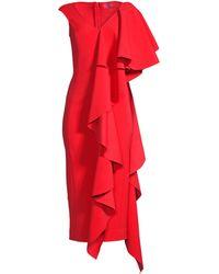 e42bdc9354a 3.1 Phillip Lim Cascading Ruffle Trim Silk Crepe Dress in Red - Lyst