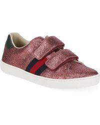 Gucci - Glitter Canvas Sneakers - Lyst