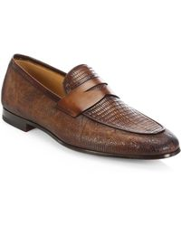 Saks Fifth Avenue | Collection By Magnanni Lizard Loafers | Lyst
