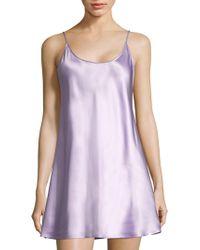 La Perla - Short Sleeveless Silk Chemise - Lyst