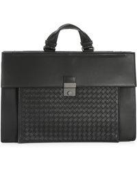 4bc694c86dc9 Lyst - Bottega Veneta Nero Calandre Torino Briefcase in Black for Men