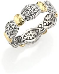 Konstantino - Aspasia 18k Yellow Gold & Sterling Silver Band Ring - Lyst