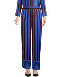 Alice + Olivia - Benny Striped Silk Pyjama Trousers - Lyst