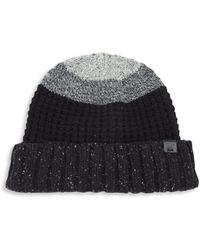 Bickley + Mitchell | Lambswool Blend Colorblock Knit Beanie | Lyst