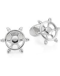 David Donahue - Sterling Silver Ship Wheel Cufflinks - Lyst