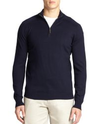 Saks Fifth Avenue - Silk-blend Quarter-zip Sweater - Lyst