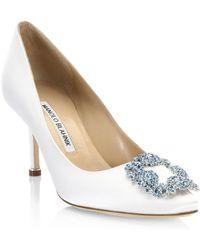 03245a646c2 Manolo Blahnik - Hangisi 70 Point Toe Court Shoes - Lyst
