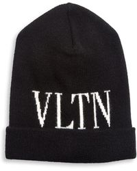 Valentino - Wool And Cashmere-blend Beanie - Lyst