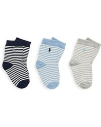 Ralph Lauren - Infant's Three-pair St. James Striped Crew Socks/6-24 Mo. - Lyst