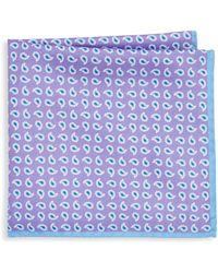 Ike Behar - Purple Paisley Pocket Square - Lyst