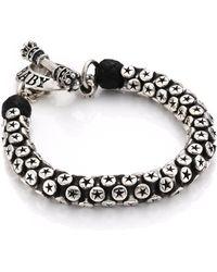 King Baby Studio - Star Tri-bead Bracelet - Lyst