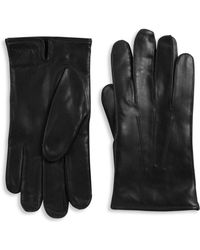 Paul Smith - Leather Textured Gloves - Lyst