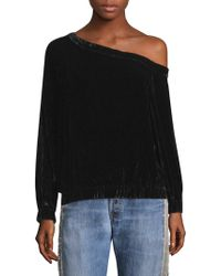 Kendall + Kylie - Velvet One Shoulder Top - Lyst