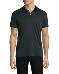 Theory - Classic Buttoned Polo - Lyst