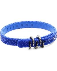 Stinghd - Platinum Claw And Leather Bracelet - Lyst