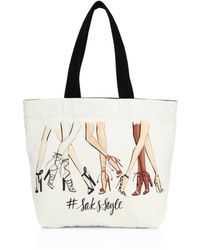 Saks Fifth Avenue - Saksstyle Leg-print Canvas Tote - Lyst