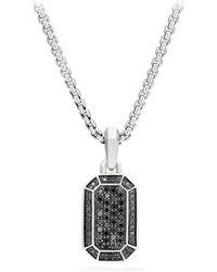 David Yurman Streamline Pavé Amulet With Black Diamonds